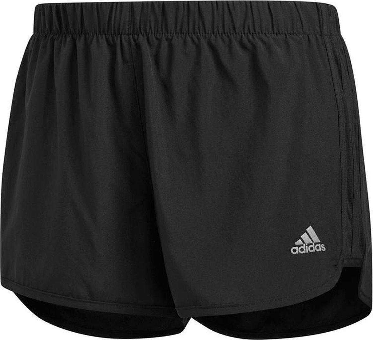 Adidas short 2 in 1 Gym black dames