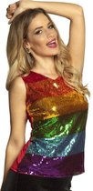 Boland Glittershirt Dames Polyester Maat M