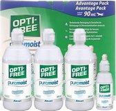 Optifree PureMoist - 3 x 300 ml + 90 ml ( nieuwe verpakking) - Lenzenvloeistof