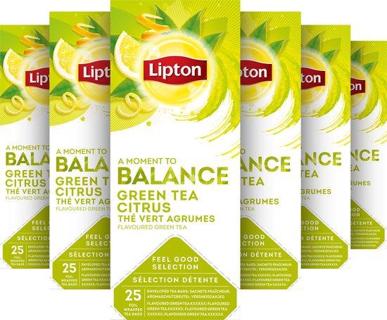 Lipton Feel Good Selection Groene Thee - 6 x 25 zakjes - Voordeelverpakking
