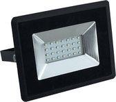 20W LED Bouwlamp| Zwart |3000K (Warm Wit)|vervangt 100W halogeen|Set van 2