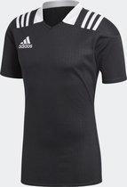 Adidas rugbyshirt zwart maat S