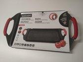 Satoshi- Grillplaat van gietaluminium - Geschikt voor inductie - Anti-aanbak marmercoating - Afneembare siliconen handvatten - 47 x 26 cm - grillpan