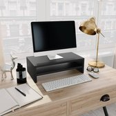Monitorstandaard 42x24x13 cm spaanplaat zwart
