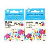 FLWR - Inktcartridge / PG-545XL / CL-546XL / 2-pack Zwart & Kleur - Geschikt voor Canon