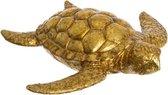 Schildpad beeld goudkleurig 18 cm