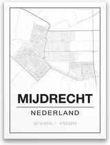 Poster/plattegrond MIJDRECHT - A4