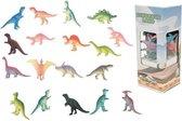 18x Plastic speelgoed dinosaurussen 6 cm - Speelgoed dieren dino's