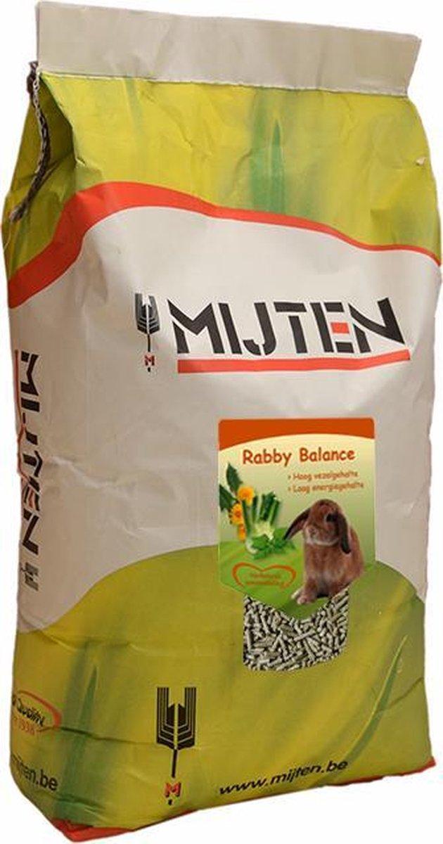 Konijnenvoer, konijnenkorrel - Rabby Balance - Mijten 20 kg
