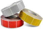 Reflecterende Tape Rood - 5x5 cm Stickers - Per meter
