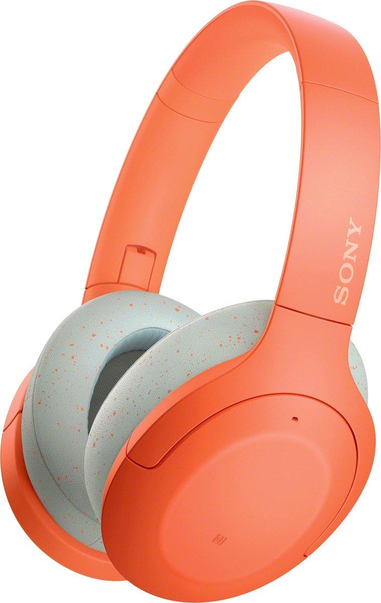 Sony WH-H910N - Draadloze Bluetooth over-ear koptelefoon met Noise Cancelling - Oranje