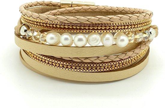   Armband Dames Leren Wikkelarmband Galeara design