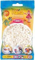 Hama strijkkralen wit, zakje met 1.000 stuks