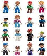 Play&Build Community Figures Set - Speelfiguur 16 stuk (Compatible with Duplo & Mega-blocks)