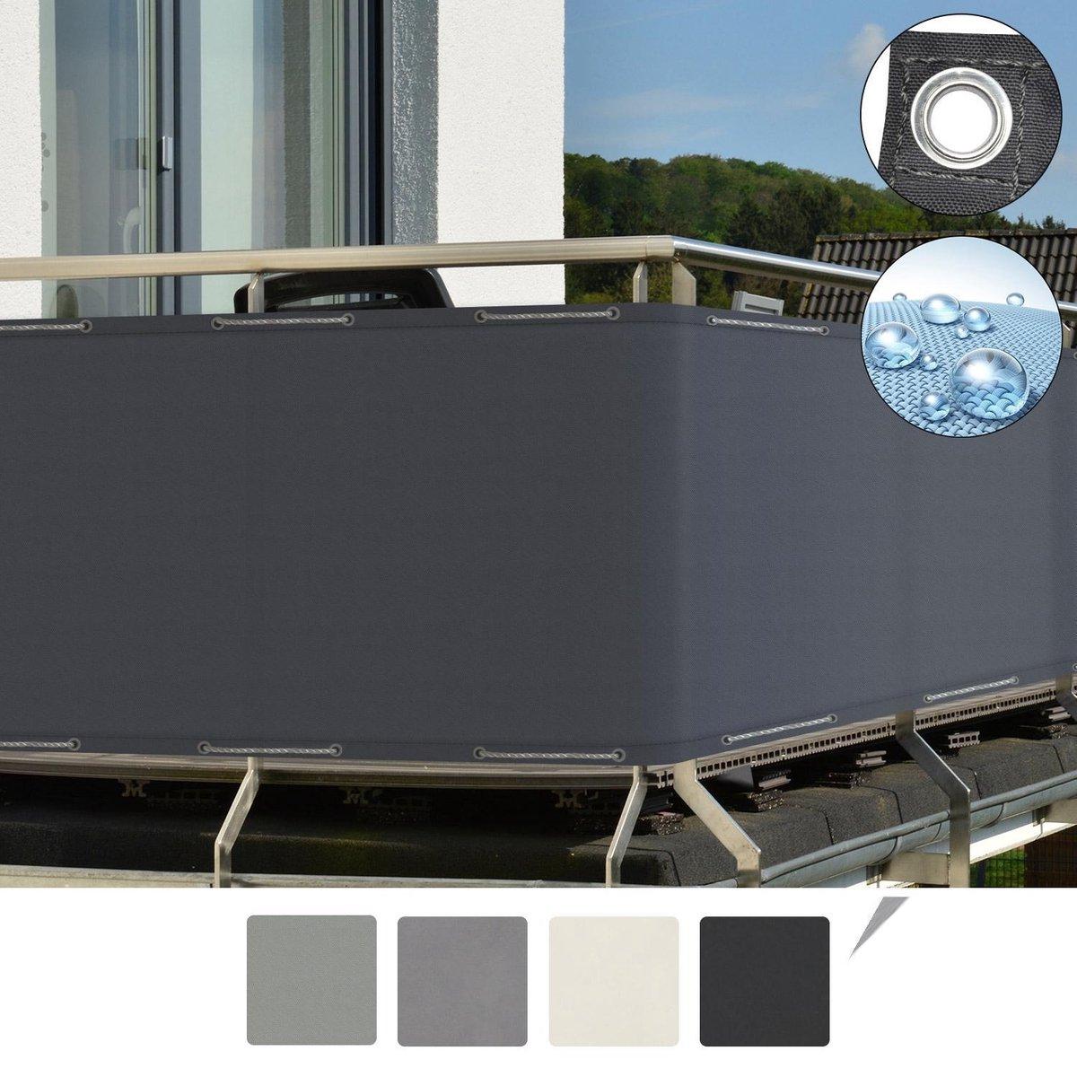 Sol Royal balkonscherm   antraciet 90x500cm - balkondoek waterafstotend - Solvision PB2