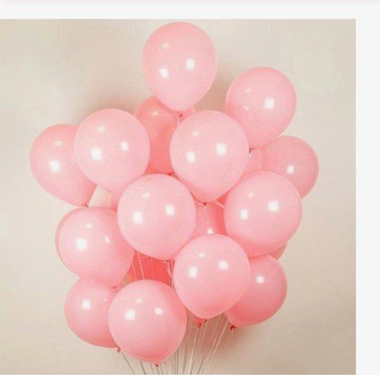 Luxe Ballonnen Roze 20 Stuks - Helium Licht Baby Roze Ballon Party Feest