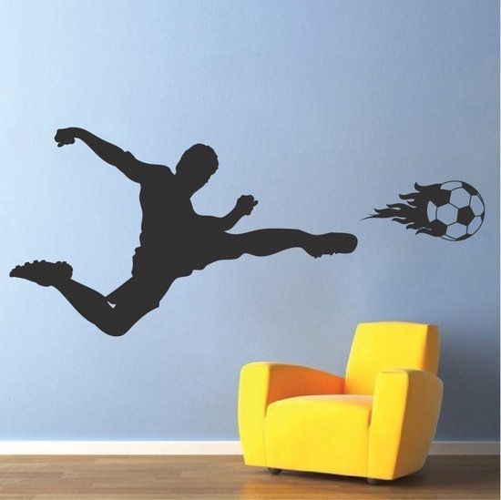 3D Sticker Decoratie Sport Muurtattoo Voetbal Art Sticker voor kinderen Slaapkamer Sport Voetbal Thuis slaapkamer Decor Muurschildering DIY Removal Decal YO-136