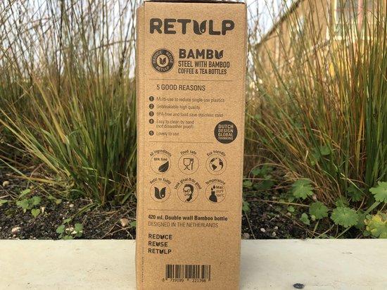 Retulp Bamboe RVS Thermosfles Met Theezeefje