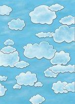 Bresser BR-F334 Achtergronddoek voor Fotostudio met Print - 1.8x2.5 - Wolken/Lucht