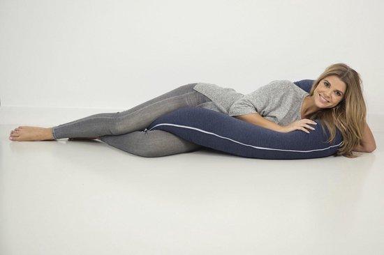 Product: Nagui Zwangerschapskussen - Zijslaapkussen - Body pillow - Blauw - Afneembare hoes + opbergtas, van het merk Nagui