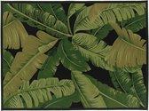 Vloerkleed Nature Leaves black - Brinker Festival - 160 x 230 cm.