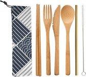 Bamboe bestek - 8 -delige set - Milieuvriendelijk - 1 persoons - Herbruikbaar ♻