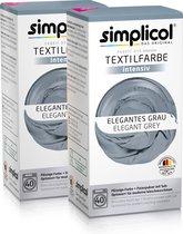 Simplicol Textielverf Intens - Wasmachine Textielverf - Elegant Grey - 2 stuks