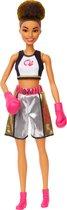 Barbie Bokser met Bokshandschoenen - Barbiepop
