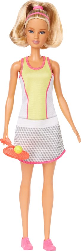 Barbie Tennisspeler met Outfit en Racket - Barbiepop
