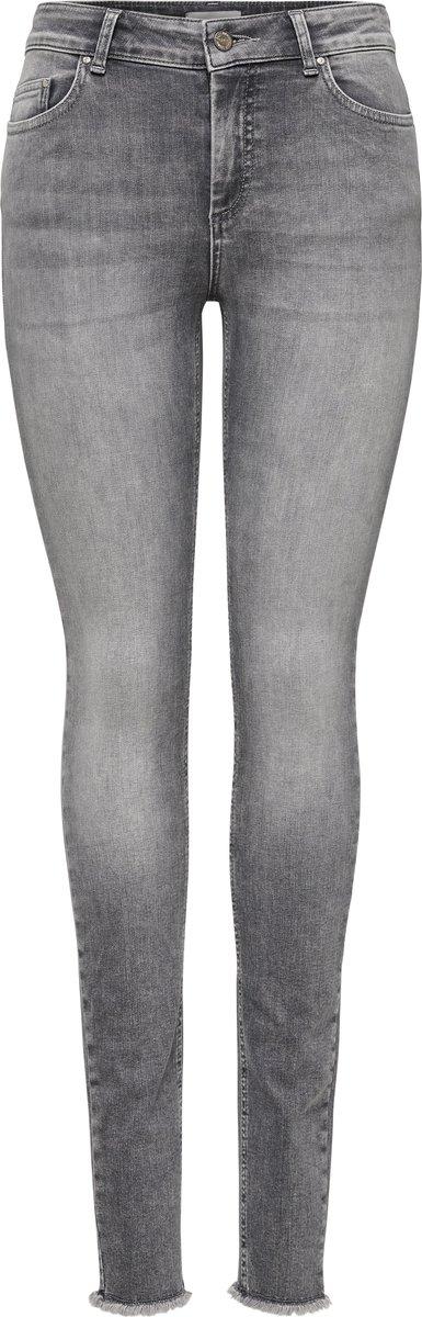 - Skinny jeans met regular waist - Cropped fit - Met 5 zakken - Met 5 riemlussen - Sluiting aan de voorkant - Geruwde randen onderaan - Stretchy stof - Binnenbeenlengte: 75 cm in maat M/34 - 0