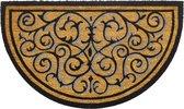 Deurmat Kokos - Luxe halfrond - 45x75cm