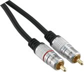 Q-link tulp kabel premium quality 1.5 meter | 2rca-2rca male-male | zwart