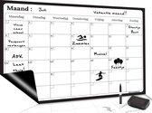 Magnetisch Weekplanner whiteboard (1) - A3 - Planbord - Familieplanner -...
