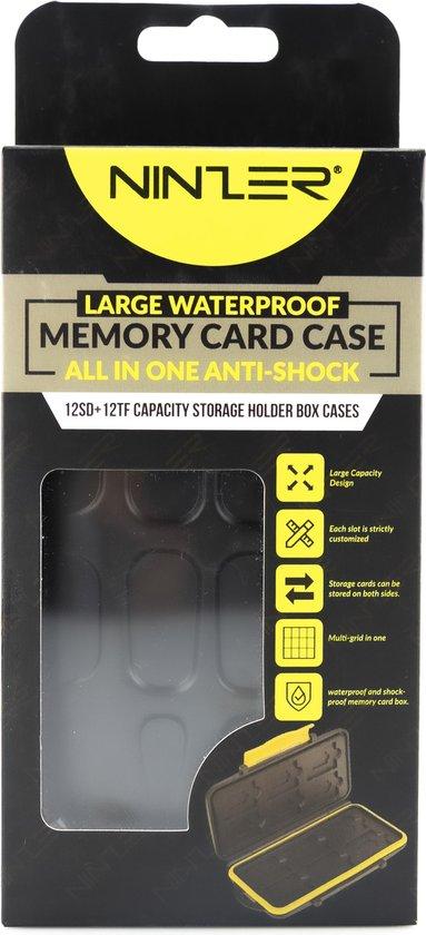 Ninzer® Waterdichte Geheugenkaarthouder - 24 kaarten - 12 SD en 12 Micro SD kaarten