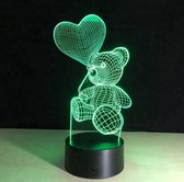 3D ILLUSIE LAMPJE BEER I NACHTLAMPJE I 3D LAMP ILLUSION WITH 7 COLORS CHANGE SMART TOUCH SWITCH