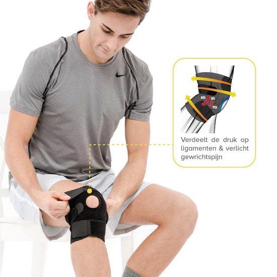 BRACOO KS10 Kniebandage - verstelbare neopreen kniebrace - rechter/linker knie - patella stabilisator opening - zwart