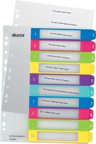 Leitz WOW herbruikbare printbare index tabblad 1-10