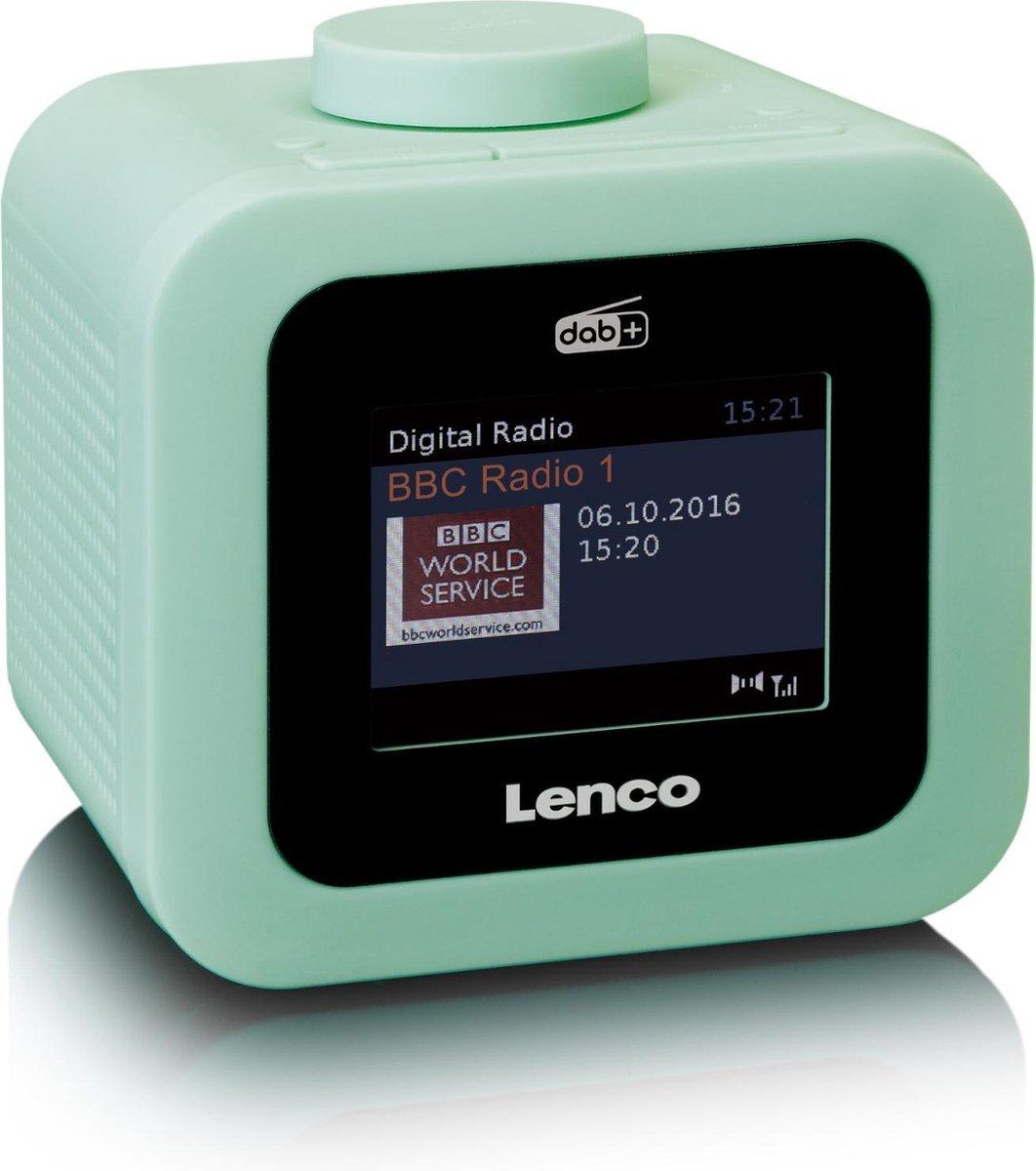 Lenco CR-620 - Wekkerradio met DAB+ en AUX-uitgang - Groen