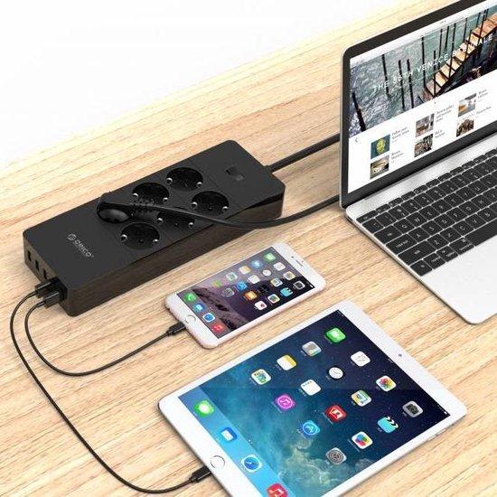 Orico stekkerdoos met 6 contacten en 5x USB / zwart - 1,5 meter - ORICO