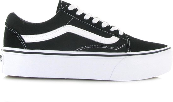 Vans Old Skool Sneakers - Unisex - Platform - Zwart/Wit - Maat 40