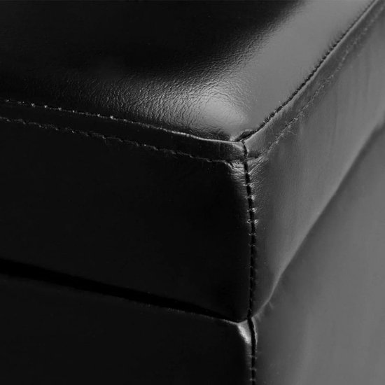 Lange opslagbank hout zwart