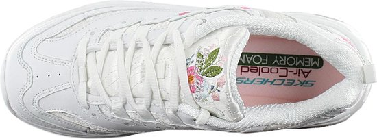 Skechers D'Lites-Bright Blossoms Sneakers Dames - White QFaolbJ7