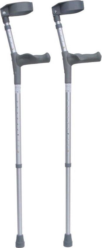 Elleboogkrukken ergonomisch Maat M/L. Loopkrukken - krukken anatomische handvatten, gesloten manchet. Set - paar van 2