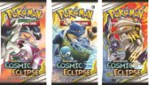Pokemon 3 Booster Pakjes Cosmic Eclipse