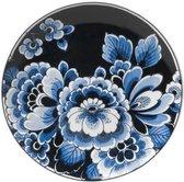 Bord bloem donker | Heinen Delfts Blauw | Wandbord | Delfts Blauw bord | Design |