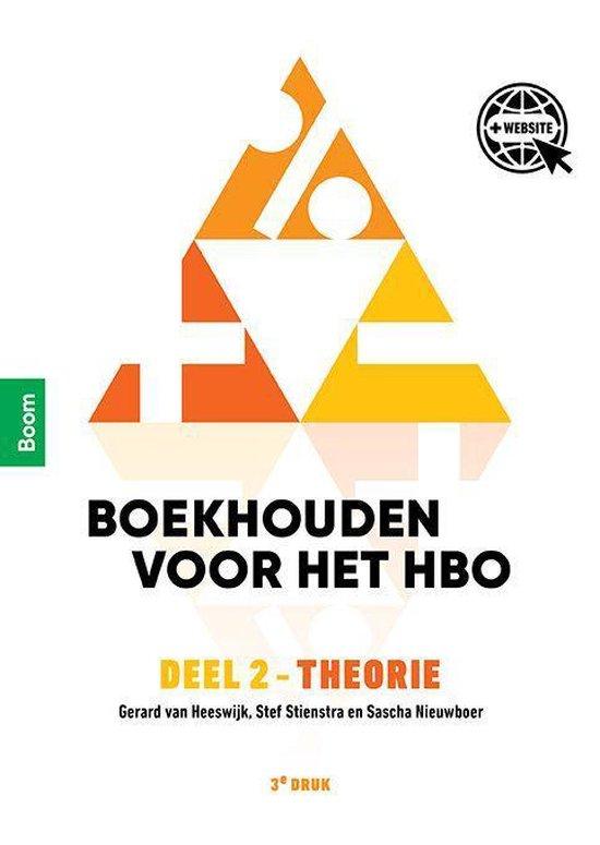 Boek cover Boekhouden voor het hbo 2 Theorie van Gerard van Heeswijk (Paperback)
