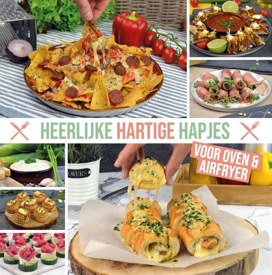 Boek cover Heerlijke Hartige Hapjes kookboek van Airfryertotaal.nl (Paperback)