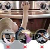 Fornuisknoppen beschermers – Veiligheidsset – Beveiliging- Kind veilig - Transparant – 2 stuks