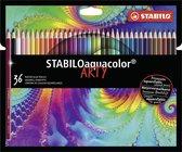 STABILO Aquacolor Kleurpotloden ARTY etui 36 Kleuren