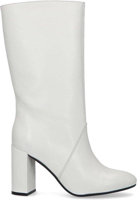 | Sacha Dames Witte laarzen met hak Maat 40